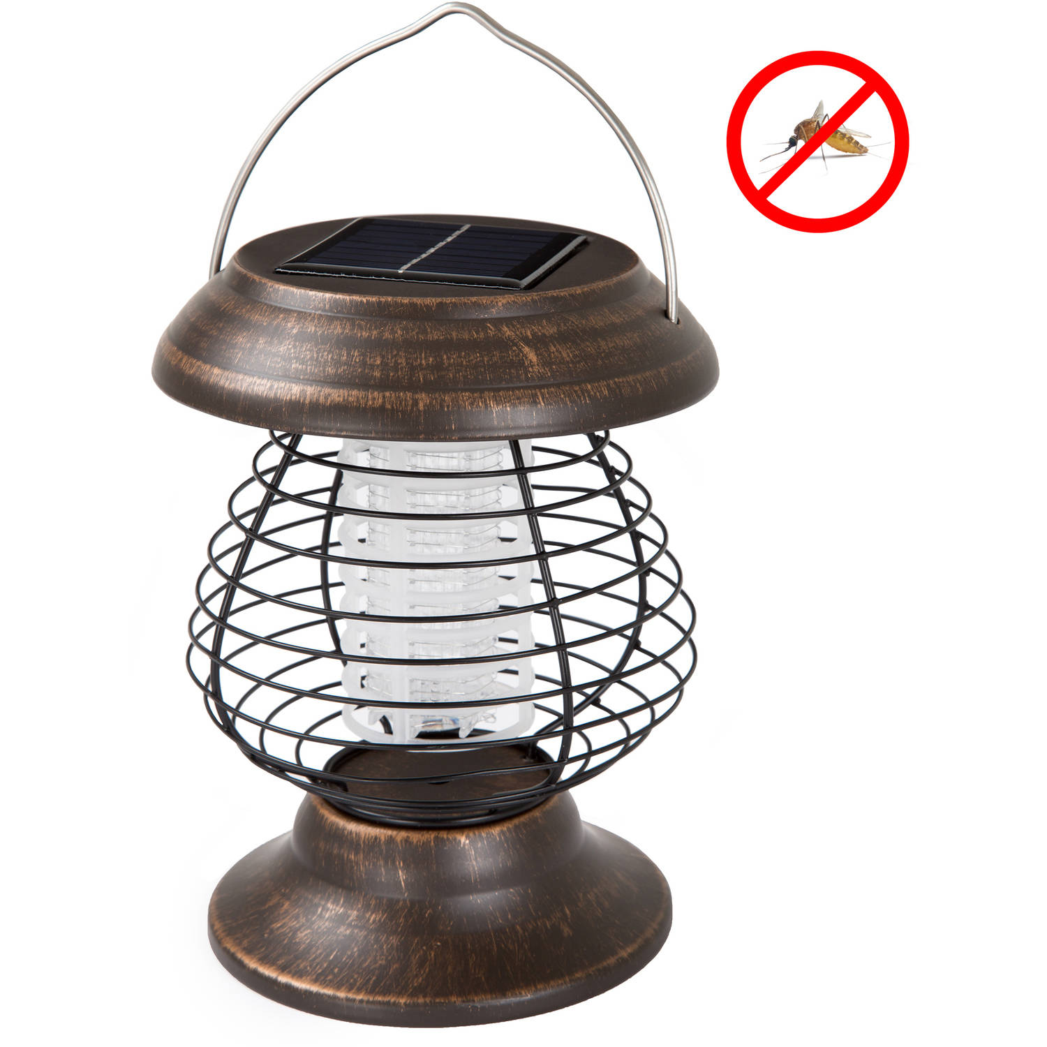 Wakeman Outdoors Solar Power UV Mosquito Killer Zapper LED Lantern