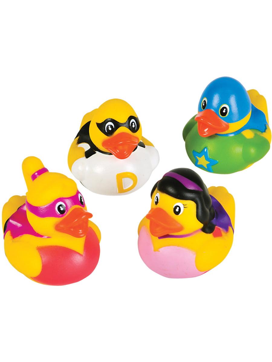 Toy Superhero Rubber Ducks Bath Set Of 12 - Walmart.com
