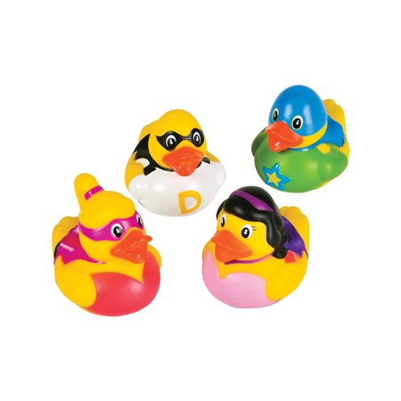 Toy Superhero Rubber Ducks Bath Set Of 12 ()