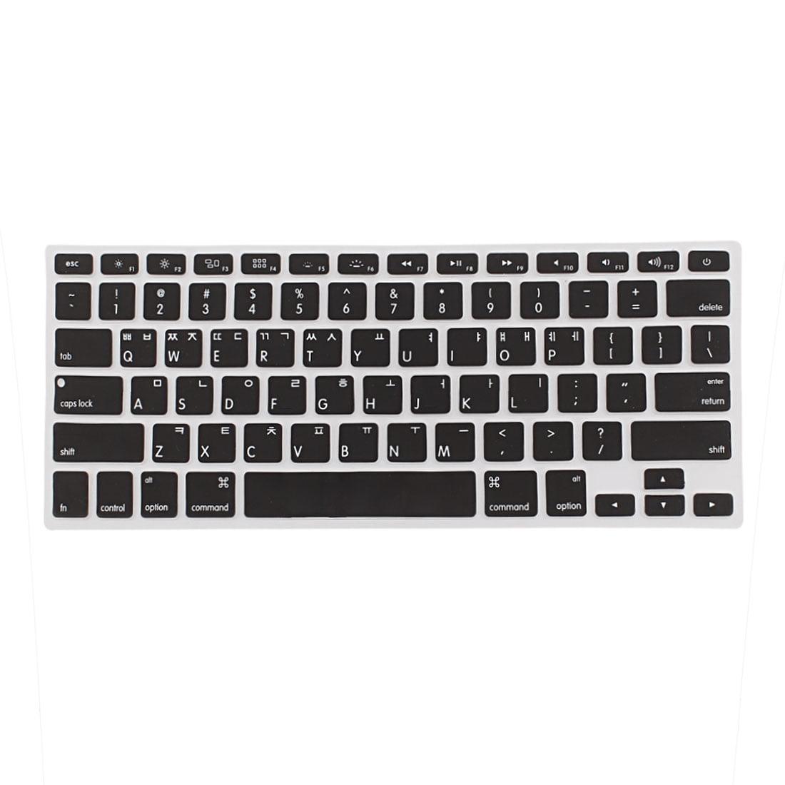 "Korean Silicone Keyboard Skin Cover Black for Apple Macbook Air 13""15""17"""