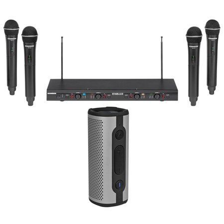 Samson Stage-412 Quad Handheld VHF Wireless Microphones+Bluetooth (Samson Stage V466 Quad Vocal Wireless System Review)