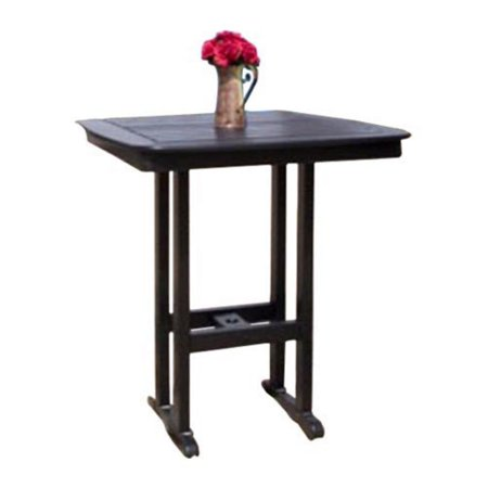 Recycled Plastic Bar - POLYWOOD® Nautical 36 x 36 in. Recycled Plastic Bar Table