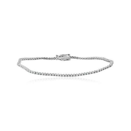 1 1/2 cttw Diamond Tennis Bracelet 14k White Gold (1/2 Ct Tw Diamond Bracelet)