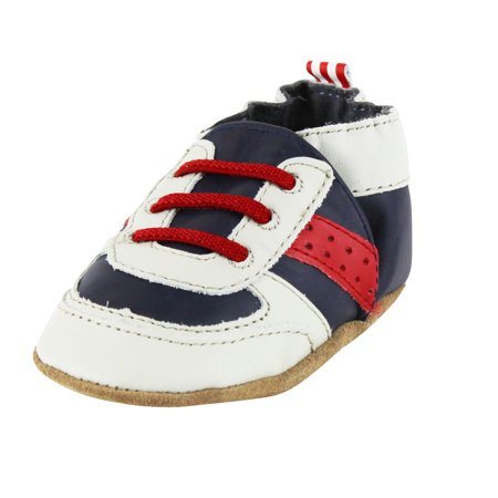 a7d1cfdc Robeez - Robeez Baby Boys Sneakers Leather Baby Crib Shoes 6-12 Months Blue  Gym Shoes Tennis Soft Soles - Walmart.com