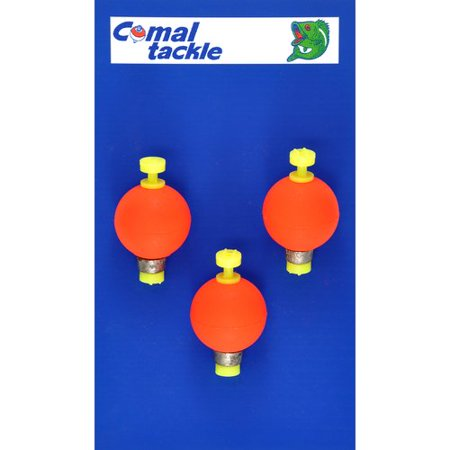 Comal Weighted Round Snap-On Float, Red ()