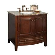 Bellaterra Home Manresa 36-in. Single Bathroom Vanity with Optional Backsplash