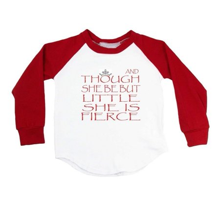 Cute Halloween Quotes Baby (Girls Red Shakespeare Quote Print Cotton Spandex Raglan)