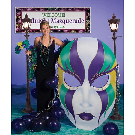 Mardi Gras Mask Cardboard - Mardi Gras Dress Up Ideas