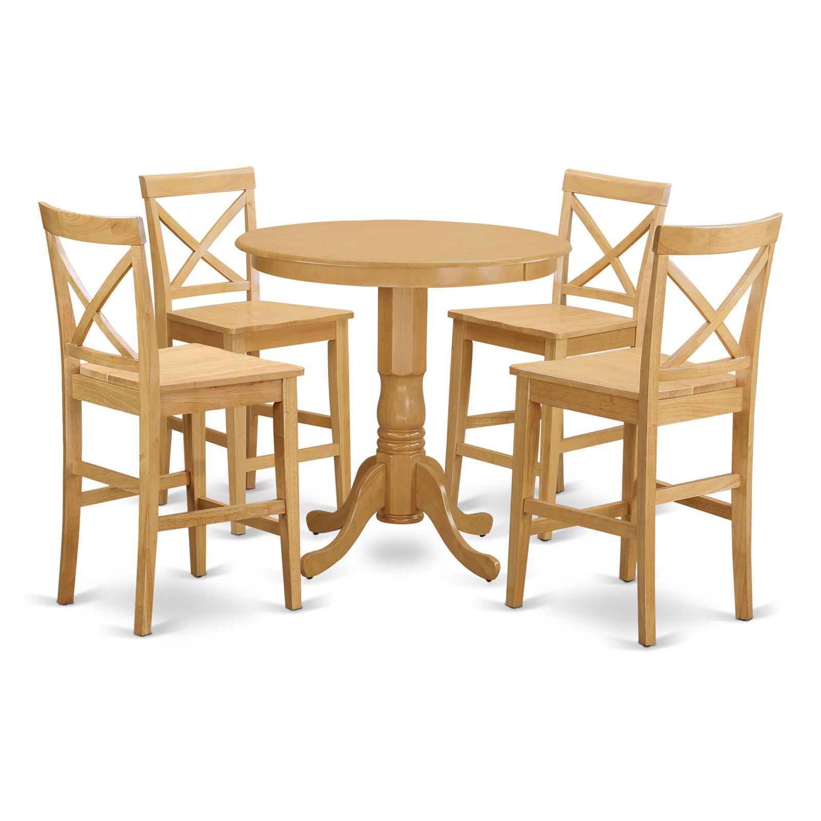 East West Furniture Jackson 5 Piece High Cross Dining Table Set