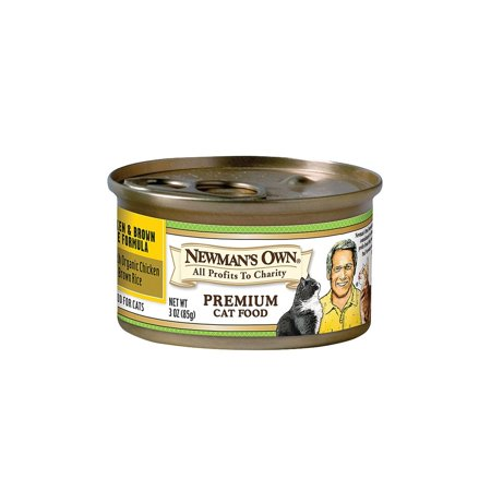 Newman's Own Organics Cat Food - Chicken And Brown Rice - Pack of 24 - 3