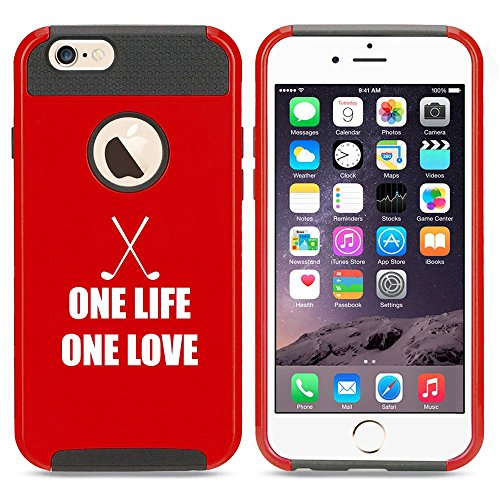Apple iPhone 5 5s Shockproof Impact Hard Case Cover One Life One Love Golf (Red),MIP