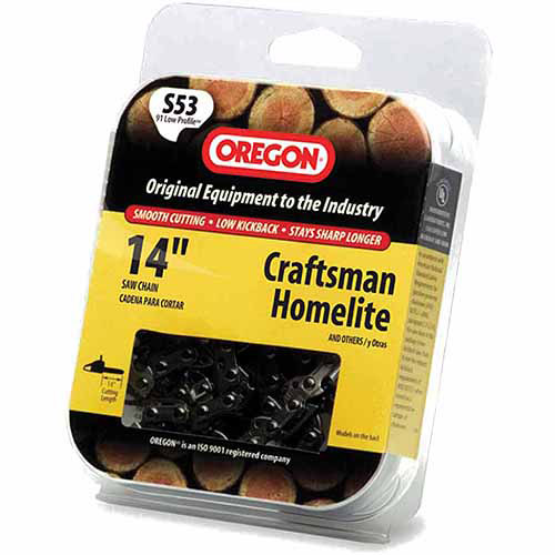 "Oregon Chain S53 14"" Semi-Chisel Cutting Chain"