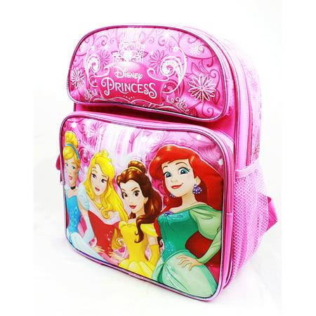 Medium Backpack - Disney Princess - Cinderella Aurora Bella & Ariel New A08431 - image 1 de 2