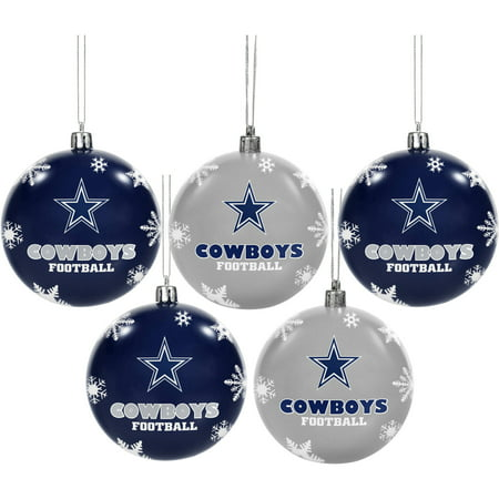 Forever Collectibles 2016 NFL Pack Shatterproof Ball Ornaments, Dallas  Cowboys - Forever Collectibles 2016 NFL Pack Shatterproof Ball Ornaments
