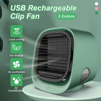 VicTsing Portable USB Mini Air Conditioner Fan With Night Light Humidification Desktop Air Cooler Multifunction Summer Air Cooling Fan For Office Home