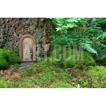 Little Wooden Fairy Tale Door In A Tree Trunk Print Wall Art By Hannamariah ()