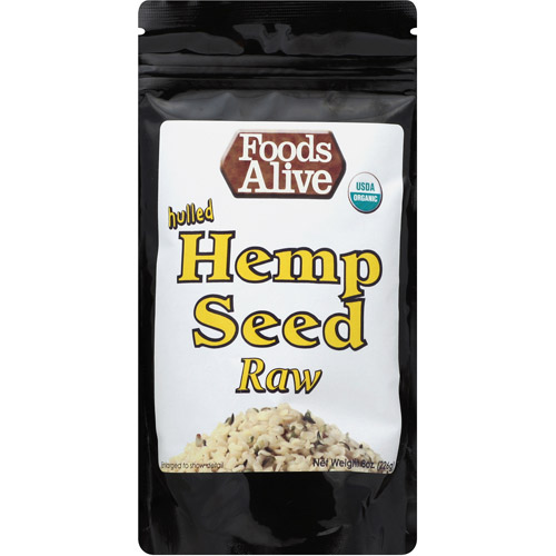 Foods Alive Raw Hulled Hemp Seed, 8 oz, (Pack of 6)