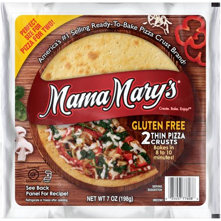 (2 Pack) Mama Mary's® Gluten Free Pizza Crusts 2 ct Pack for $<!---->