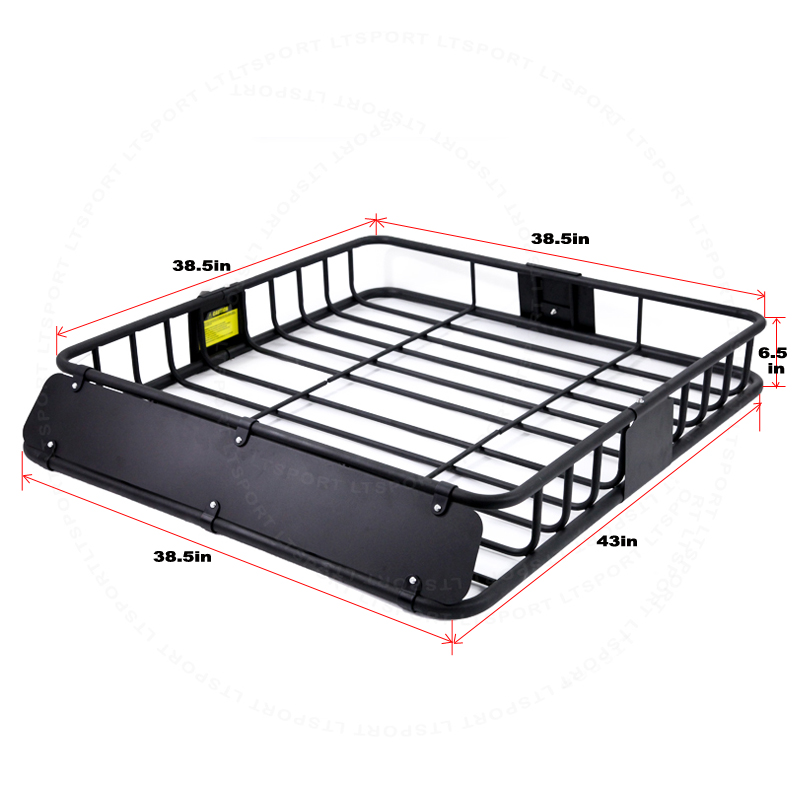 LT Sport 769553137679 for Subaru Top Rail Roof Rack 53 Cross Bar Cargo Carrier