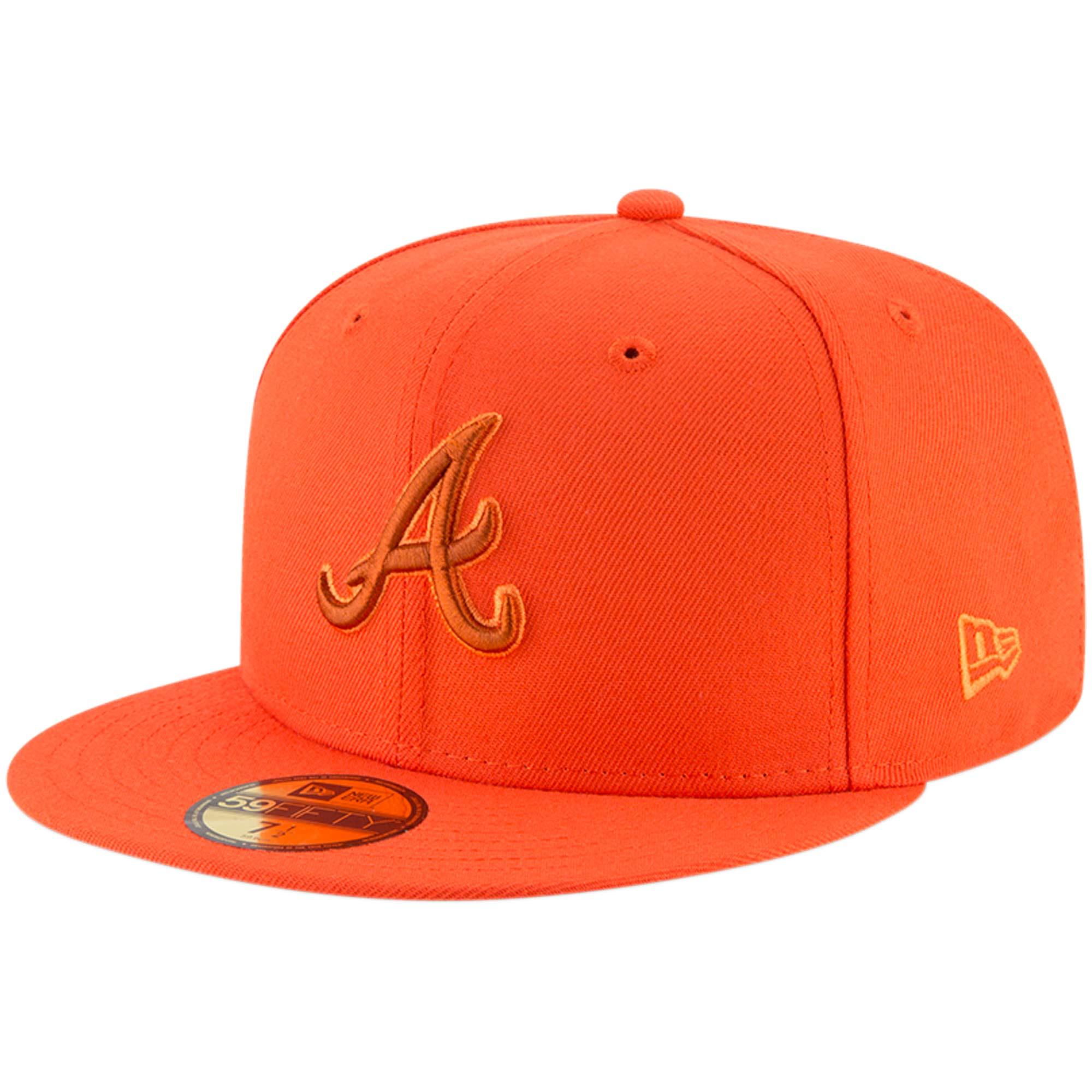 Atlanta Braves New Era League Pop 59FIFTY Fitted Hat - Orange