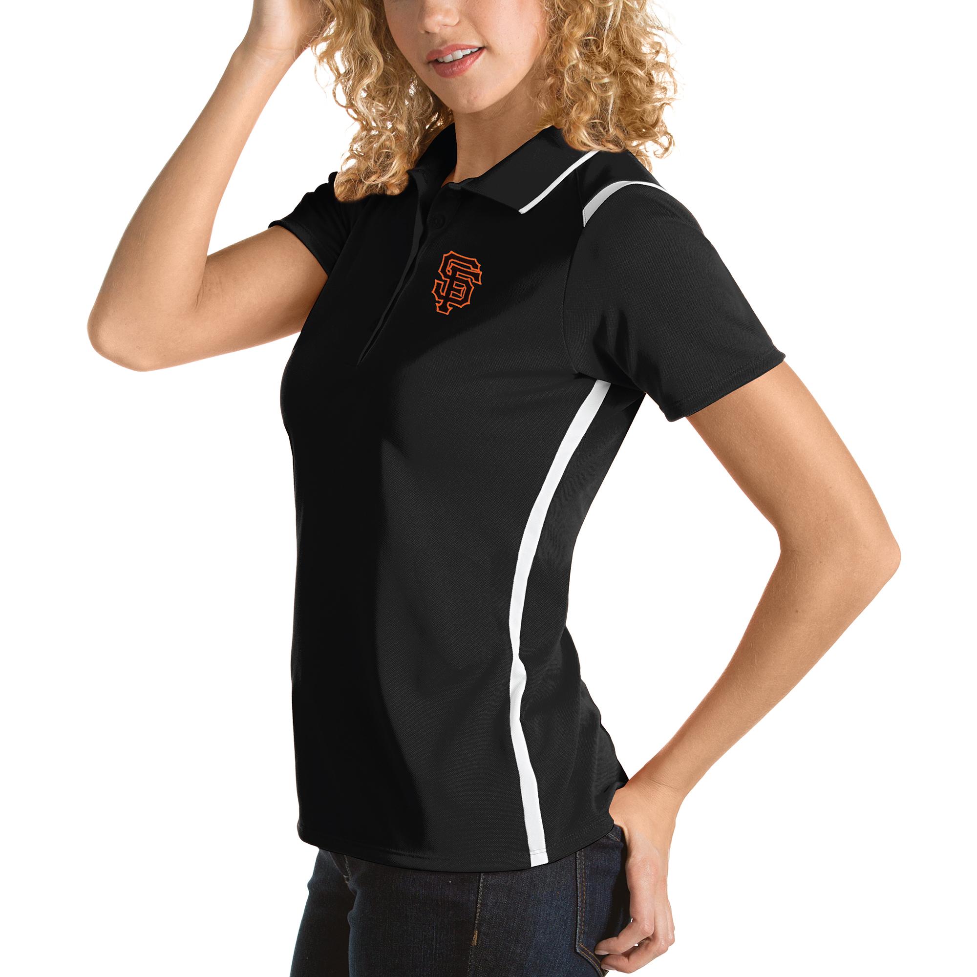 San Francisco Giants Antigua Women's Merit Polo - Black