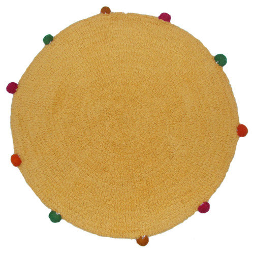 American Mills Powder Puff Accent Gold/Yellow Area Rug