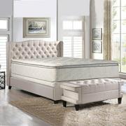 "Continental Sleep, Sunset, 10-Inch medium plush Pillowtop Innerspring Mattress & 8"" Wood Box Spring Set, King"