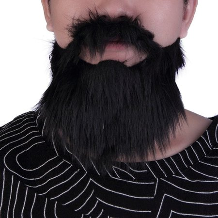 cnmodle Halloween Mustache & Fake Beard Facial Hair Party Costume Dress (Halloween Facial Hair)
