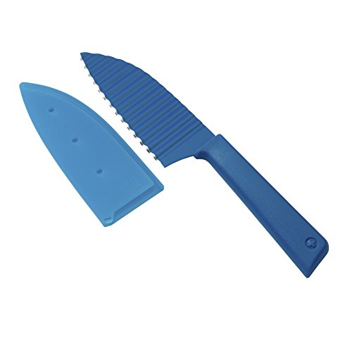 Kuhn Rikon Colori+ Krinkle Cut Garnish Knife, Blue