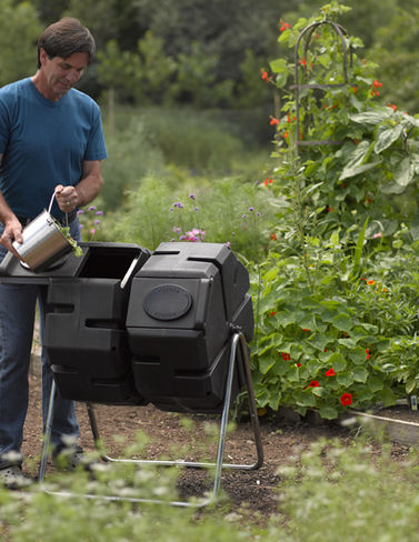 Dual-Batch Compost Tumbler by Composters