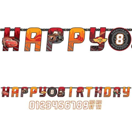 Disney Cars Add-An-Age Letter Banner (Each) - Party Supplies