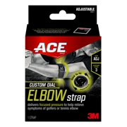 ACE Brand Custom Dial Elbow Strap, Adjustable, Firm Support
