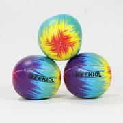 Zeekio Tie Dye Festival Juggling Ball Set - 120g - Beginner to Pro - Set of 3 (Rainbow Burst)