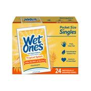 Wet Ones Antibacterial Hand Wipes Singles, Tropical Splash, 24 Ct