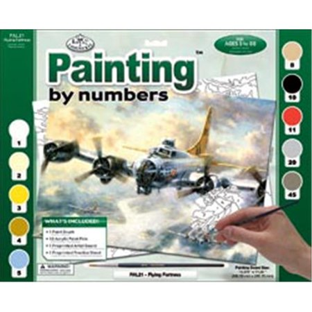 422121 Adult Paint By Number Kit 15.38 in. x 11.25 in. -Flying Fortress