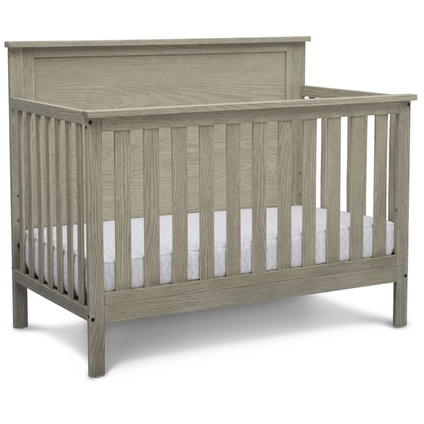 Delta Children Middleton 4-in-1 Convertible Baby Crib, Textured Limestone