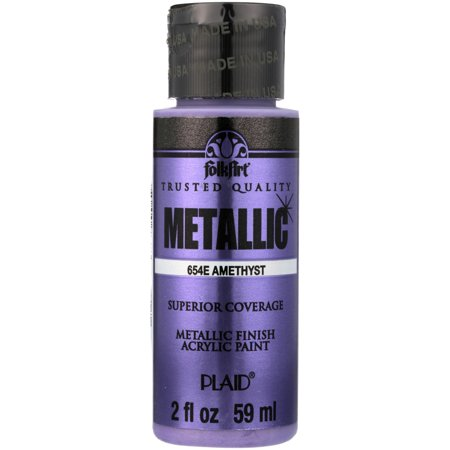 FolkArt Metallic Finish Amethyst Acrylic Paint, 2 Fl. Oz.