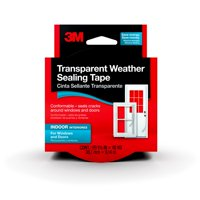 3M Interior Transparent Weather Sealing Tape, 30 Foot Roll