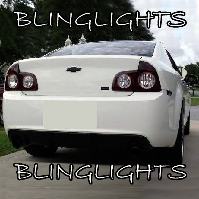New 2008-2012 Chevrolet Malibu Murdered Out Tail lamp Tint Covers Light Overlays Chevy