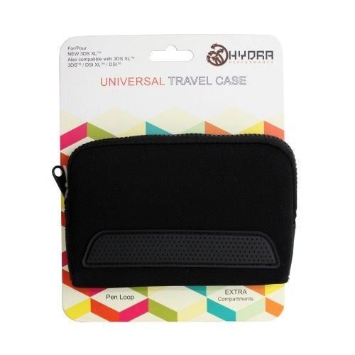 3DS XL Universal Travel Case (Black) Compatible with 3DS XL, 3DS, DSI XL