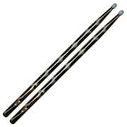 Vater VCBK5BN Color Wrap 5B Black Optic Nylon Tips Drumsticks