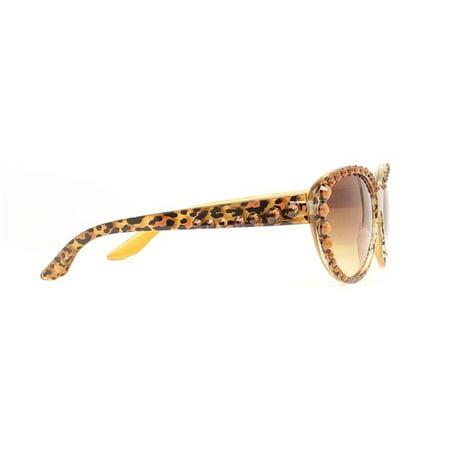Blazin Roxx 1604402 Ladies Animal Print Bling Sunglasses, Brown (Sunglasses Animal)