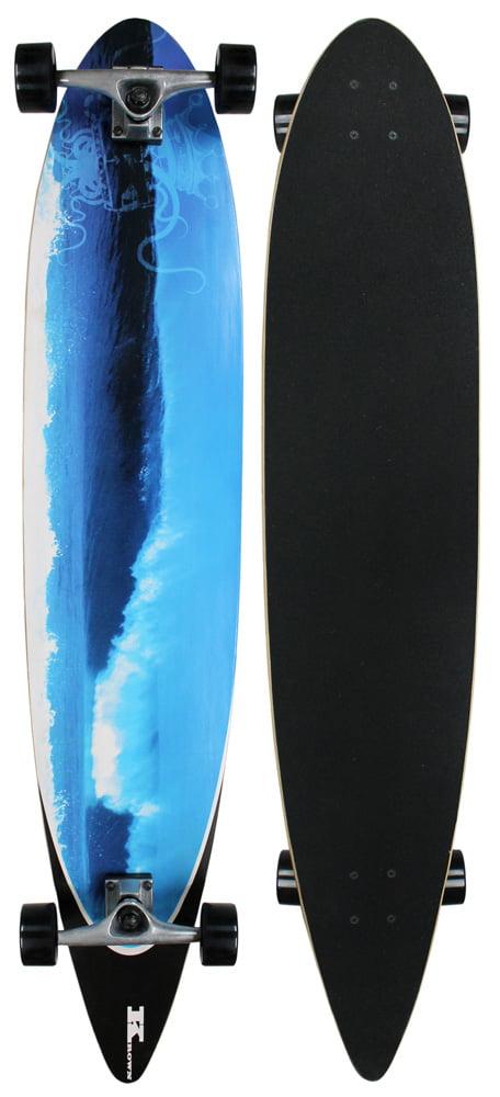 "Click here to buy Krown City Surf Longboard Blue Wave 9"" x 46"" by Krown."