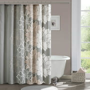 Home Essence Jane 100% Cotton Sateen Floral Printed Shower Curtain