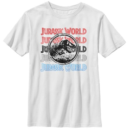 Jurassic World: Fallen Kingdom Boys' Fallen Kingdom Logo Text T-Shirt](Boys Kingdom)