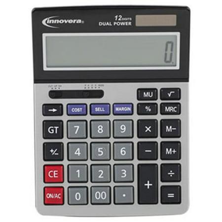 Innovera 15968 15968 Mini calculatrice de bureau, LCD 12 chiffres - image 1 de 1