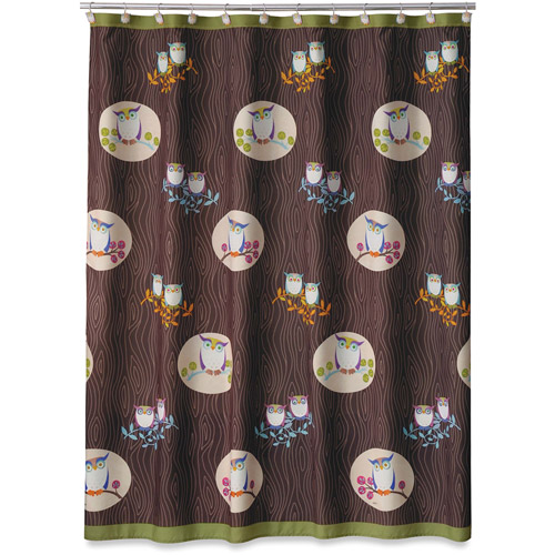 Allure Awesome Owls Shower Curtain