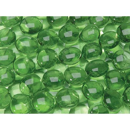 Glass Gems In Mesh Bag - Green - 12 Oz (Green 12 Glass Filter)