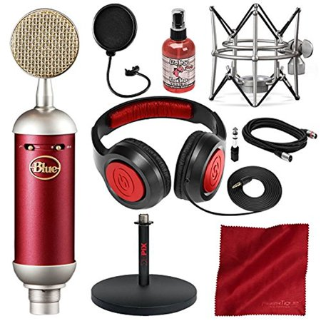 blue spark sl large diaphragm studio condenser microphone with xpix studio desktop mic stand. Black Bedroom Furniture Sets. Home Design Ideas