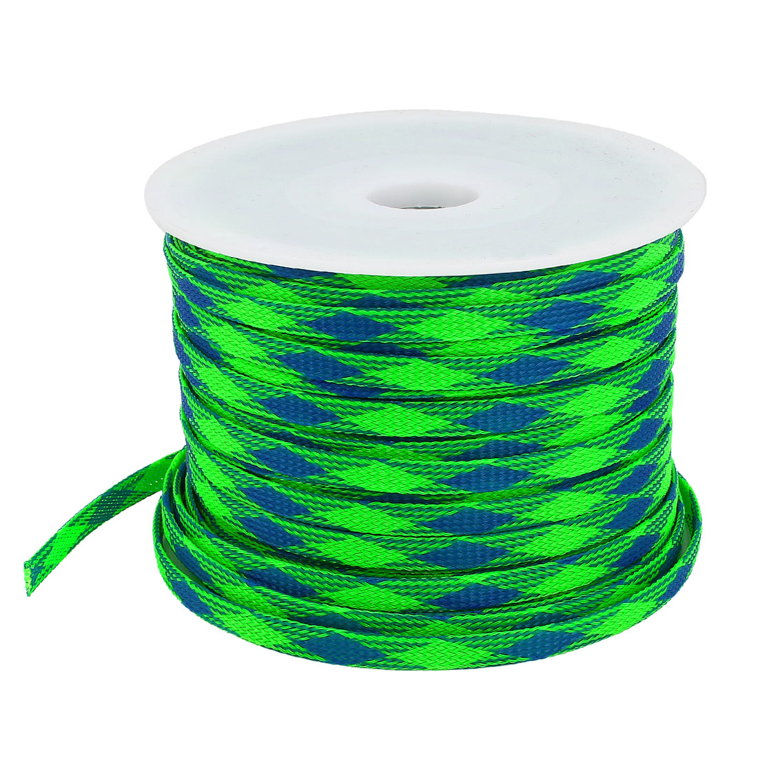 10mm Width Auto Audio Braided Cable Wire Sheathing Sleeve Harness Wiring Sleeves Blue Green